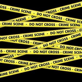 Crime ruban scène fond