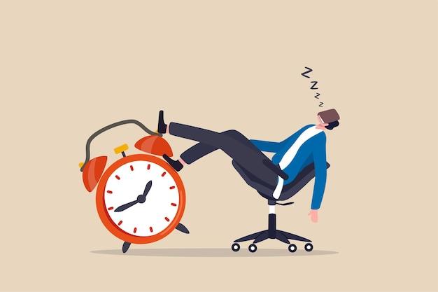 La crise de l'après-midi, la paresse et la procrastination retardent le travail à faire plus tard