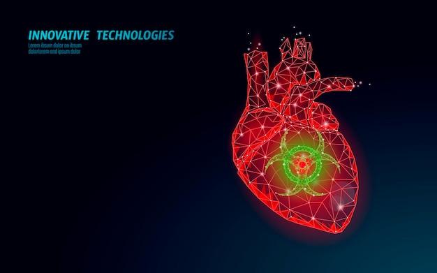 D crise cardiaque humaine trouble médical dépression anxiété douleur cardiaque urgence low poly traitement médicamenteux ...