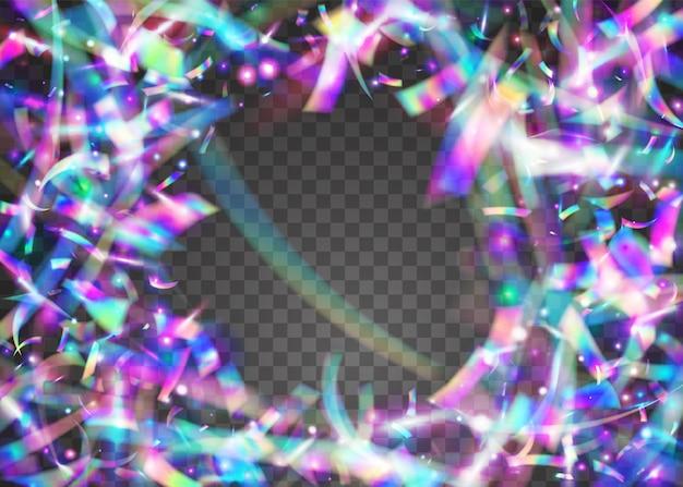 Cristal tinsel. élément métallique. éblouissement léger. lumière du soleil rétro réaliste. art lumineux