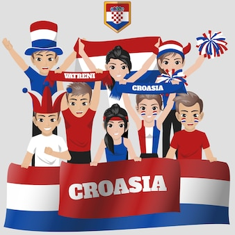 Croasia national team supporter