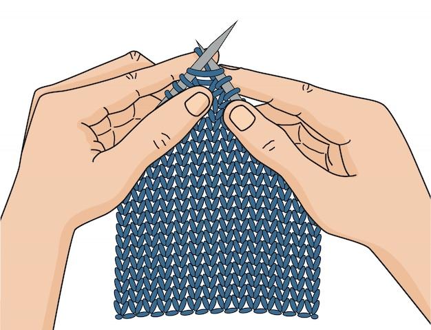 Crocheter les mains