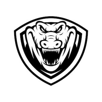 Crocodile animal sport mascot head logo vector
