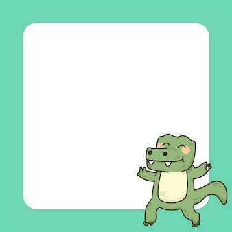 Crocodiles bloc-notes illustration de dessin animé mignon