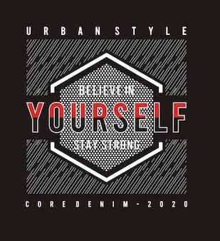 Croire en soi typographie