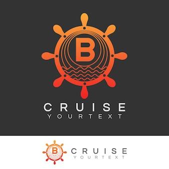 Croisière initiale lettre b logo design