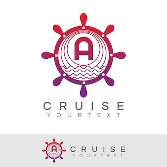 Croisière initiale lettre a création de logo