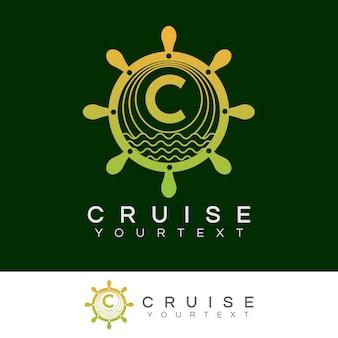 Croisière initiale lettre c création de logo