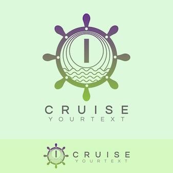 Croisière initiale lettre i logo design