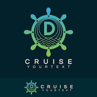 Croisière initiale lettre d logo design