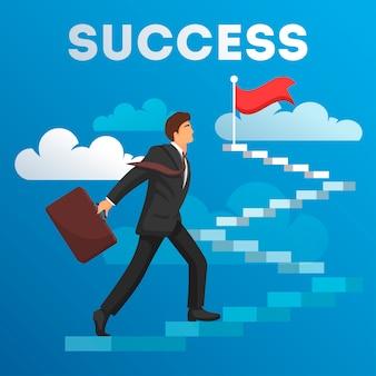 La croissance du concept d'entreprise et la voie du succès
