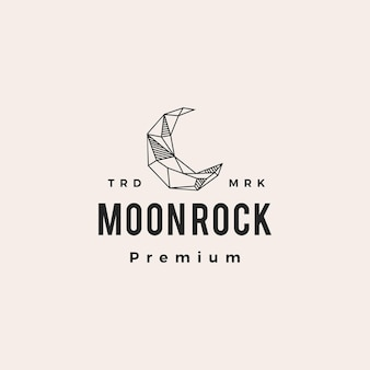 Croissant de lune rock hipster logo vintage icône illustration