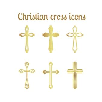 Croix chrétienne d'or