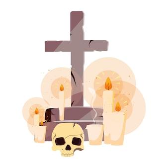 Croix joyeuse fête d'halloween