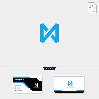 Croix m modèle de logo minimal