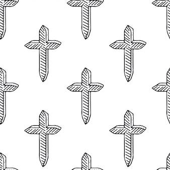 Croix modèle sans couture