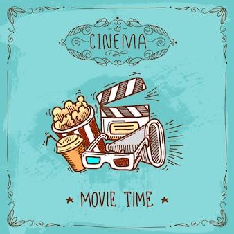Croquis d'affiche de cinéma