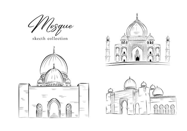 Croquis d'art en ligne de la collection de la mosquée