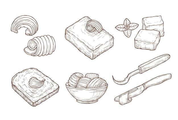 Croquis de beurre