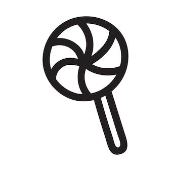 Croquis de bonbons de style doodle au format vectoriel. isolé sur fond blanc