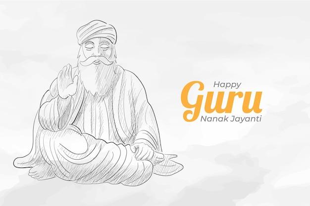 Croquis de la célébration de guru nanak jayanti