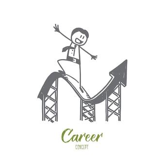 Croquis de concept de carrière dessiné à la main