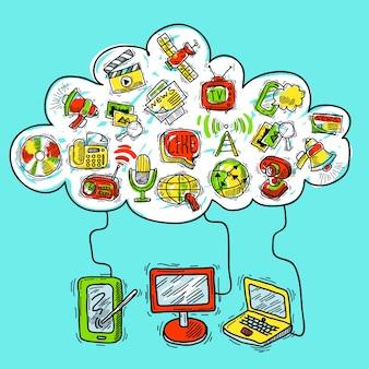 Croquis de concept de communication
