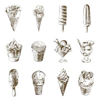 Croquis de crème glacée