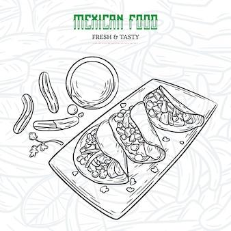 Croquis de la cuisine mexicaine