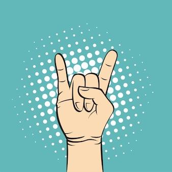Croquis dessiné main de geste de la main