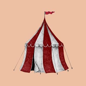 Croquis dessiné main d'une tente de cirque