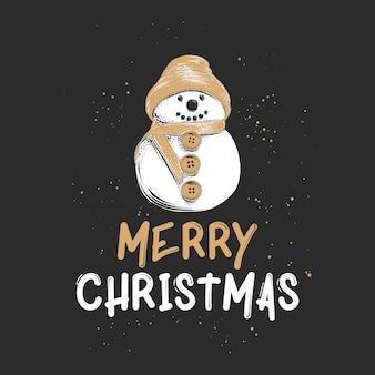 Croquis dessiné main vacances de noël et nouvel an