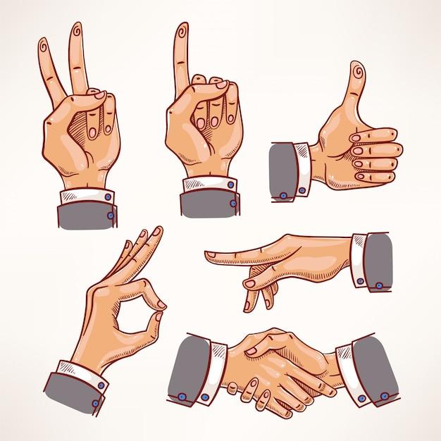Croquis des mains