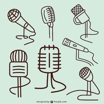 Croquis de microphones