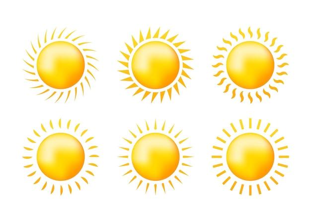 Croquis mis soleil jaune sur blanc