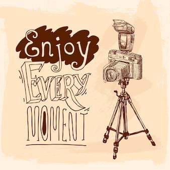 Croquis de trépied d'appareil photo