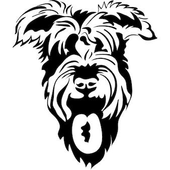 Croquis de vecteur de chiens de race schnauzer