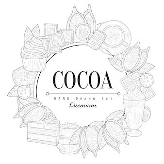 Croquis vintage de cacao
