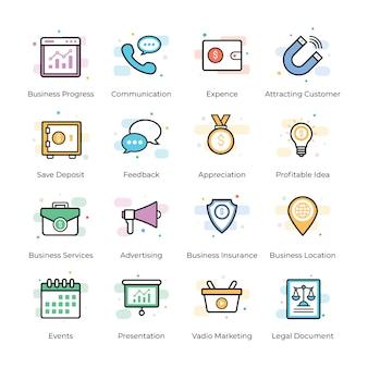 Crowdfunding et business vectors