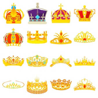 Crown royal icons set