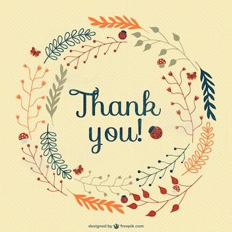 Cru carte de remerciement