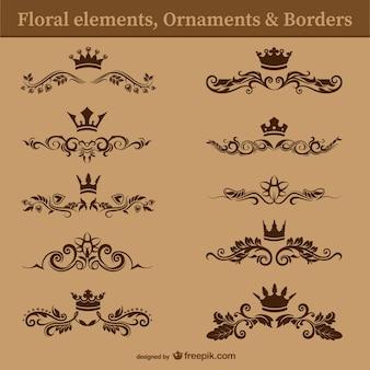 Cru séparateurs de texte floraux gratuits
