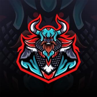 Cruel viking king gaming logo esport