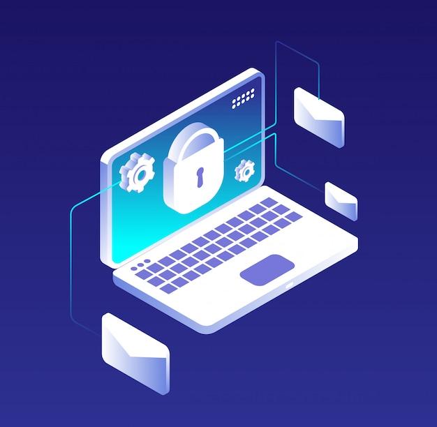 Cryptage de la base de données des e-mails, sécurité des ordinateurs, des informations et du stockage