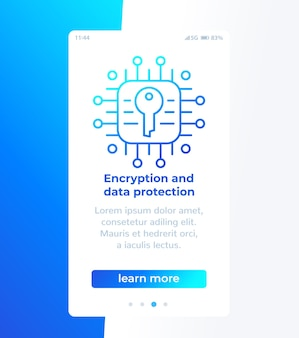 Cryptage et protection des données, conception de bannières mobiles