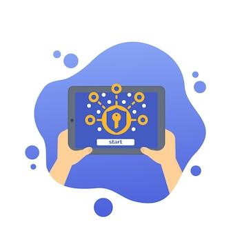 Cryptage, protection des données et confidentialité, vecteur