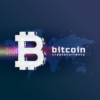 Crypto bitcoin symbole de la monnaie vecteur de fond
