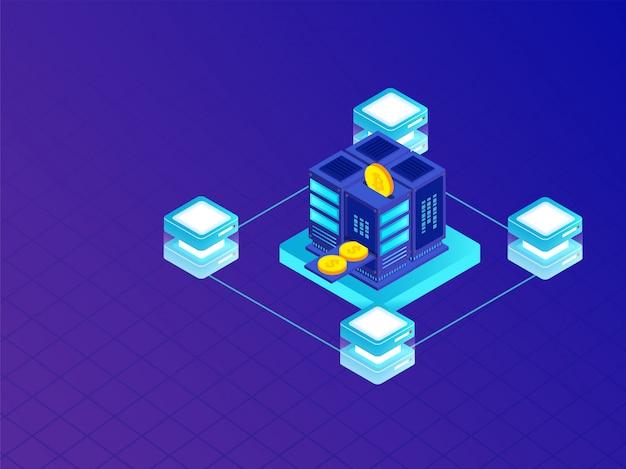 Crypto mining ou échange virtuel en argent réel.