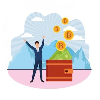 Crypto-monnaie virtuelle du portefeuille