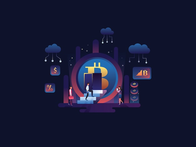 Crypto web illustration
